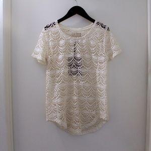 Tops - CHASOR White Crochet Top